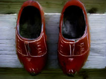 wooden shoes by sandra workala