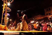 Varanasi, Ghats, ritual, Benares, Uttar Pradesh, India von Soumen Nath