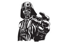 Darth Vader Mac book cover sticker von Muaz Iqbal