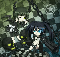 Black Rock Shooter vs Dead Master by tonee