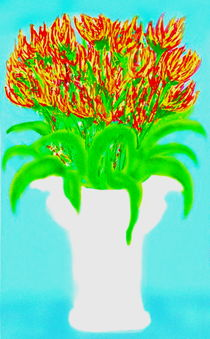 BlumenprachtinweisserVase von reniertpuah