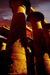 Golden columns at Karnak by David Love