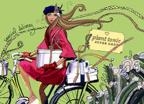 Girl on Bike von elizabeth haywood