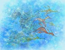 Dreaming on Aquamarine Tides von Mitzi Sato-Wiuff