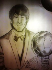lionel messi  portrait by sharon giovanna de matteis