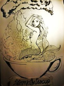 storm in the teacup - sexy marmaid- by sharon giovanna de matteis
