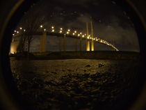 QE2 Bridge By Night by Emma Pierce