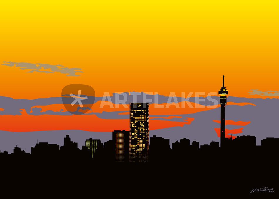 Jozi skyline digital art art prints and posters by linda williams lvi0011 jozi skyline thecheapjerseys Image collections