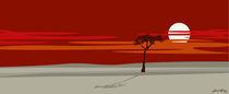 Tree at sunset von Linda Williams
