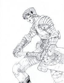 Leo Tigerheart with Mechanical sword by maanfuynn-cyllguruth