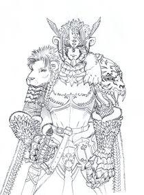The White Lion's Legion leader by maanfuynn-cyllguruth