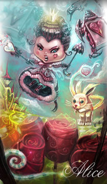 """Queen of Hearts"" Alice in wonderland  by vieira Da Silva Miguel"