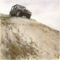 Jeep on the knap von Ilya Tolmachev