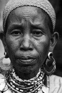 Portrait of an Indian Tribal Woman, Reang Tribe, Tripura, India  by Soumen Nath