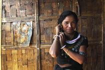 Portrait of a Indian Tribal Woman, Reang Tribe, Tripura, India  von Soumen Nath