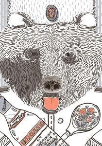 Russian Bear Postcard von mopka