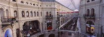 High angle view of a shopping center, GUM, Kremlin, Moscow, Russia by Panoramic Images