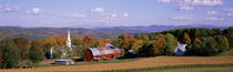 High angle view of barns in a field, Peacham, Vermont, USA by Panoramic Images
