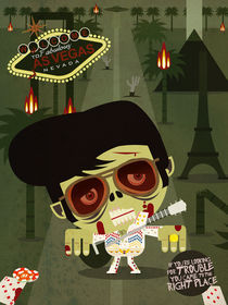 Elvis Zombie by daniel torres