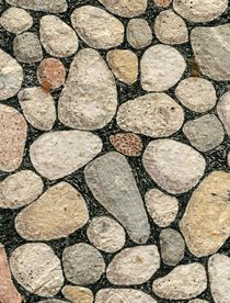 Rocks and Pebbles and Stones Drawing von Nic Squirrell