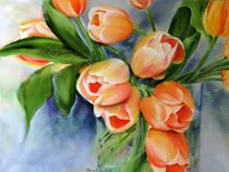 Tulpen im Glas by Ingrid Clement-Grimmer