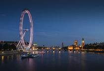 London Eye at Night by tgigreeny