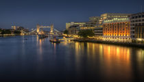 Tower Bridge at Night by tgigreeny