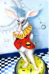 Wonderland Rabbit it is Later than You Think by Alma  Lee