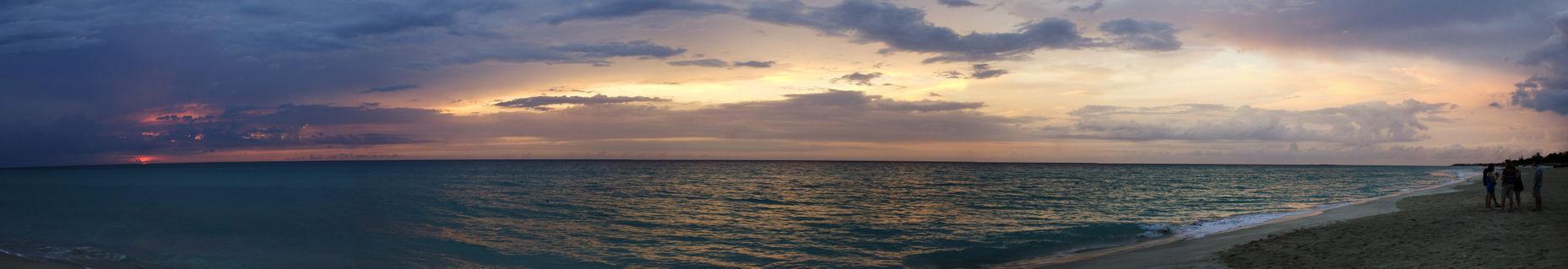 Cuban-beach-sunset-panorama
