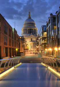 St Paul's from the Bridge at Night by tgigreeny