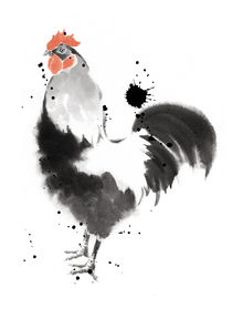Rooster by cyril blondeau