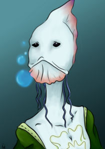 Jellyfish portrait by Nieves Serrano