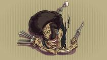 Afro Ninja Zombie by Sven Ebert