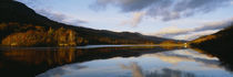 Reflection of mountains and clouds on water, Glen Lednock, Perthshire, Scotland by Panoramic Images