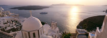 High angle view of buildings in a city, Santorini, Cyclades Islands, Greece by Panoramic Images