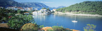 High Angle View Of A Town On The Waterfront, Cephalonia, Greece von Panoramic Images