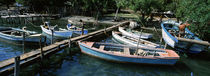 High angle view of boats moored at a pier, Cuba CAPTION BEING CHECKED by Panoramic Images