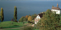 Chapel & farmhouse above Lake Zug Switzerland by Panoramic Images