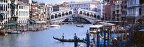 Bridge across a river, Rialto Bridge, Grand Canal, Venice, Italy by Panoramic Images