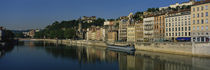 Buildings on the waterfront, Saone River, Lyon, France von Panoramic Images
