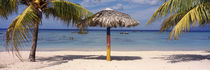 Sunshade on the beach, La Boca, Cuba by Panoramic Images