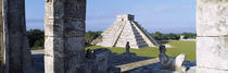 Pyramid in a field, El Castillo, Chichen Itza, Yucatan, Mexico by Panoramic Images