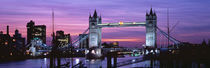 Panorama Print - England, London, Tower Brücke von Panoramic Images