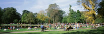 People Relaxing In The Park, Vondel Park, Amsterdam, Netherlands by Panoramic Images