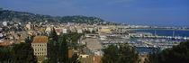 Aerial View Of Boats Docked At A Harbor, Nice, France by Panoramic Images