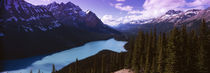 Mountain range at the lakeside, Banff National Park, Alberta, Canada by Panoramic Images