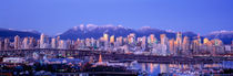 Twilight, Vancouver Skyline, British Columbia, Canada by Panoramic Images