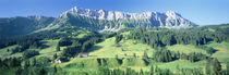 Switzerland, Emmental, High angle view of a farmland von Panoramic Images