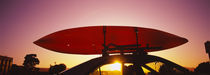 Close-up of a kayak on a car roof at sunset, San Francisco, California, USA von Panoramic Images