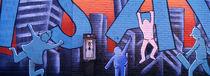 Mural, NYC, New York City, New York State, USA von Panoramic Images